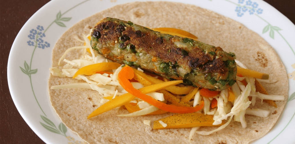 VEGETABLE WHEAT KATHI ROLL
